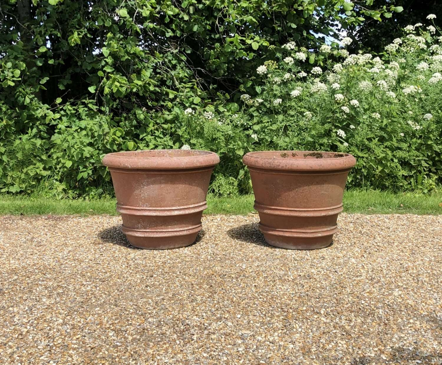 A Pair of Terracotta Planters
