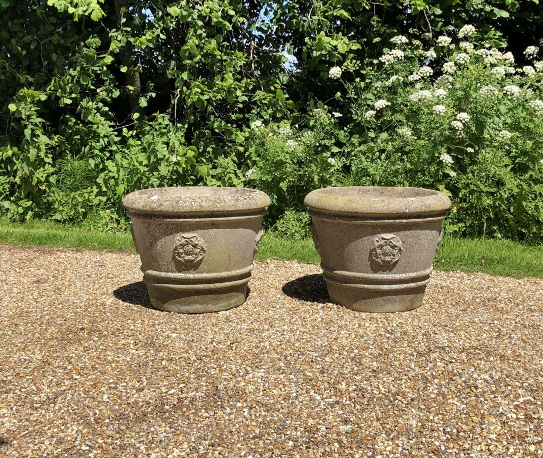 Pair of Rose Planters