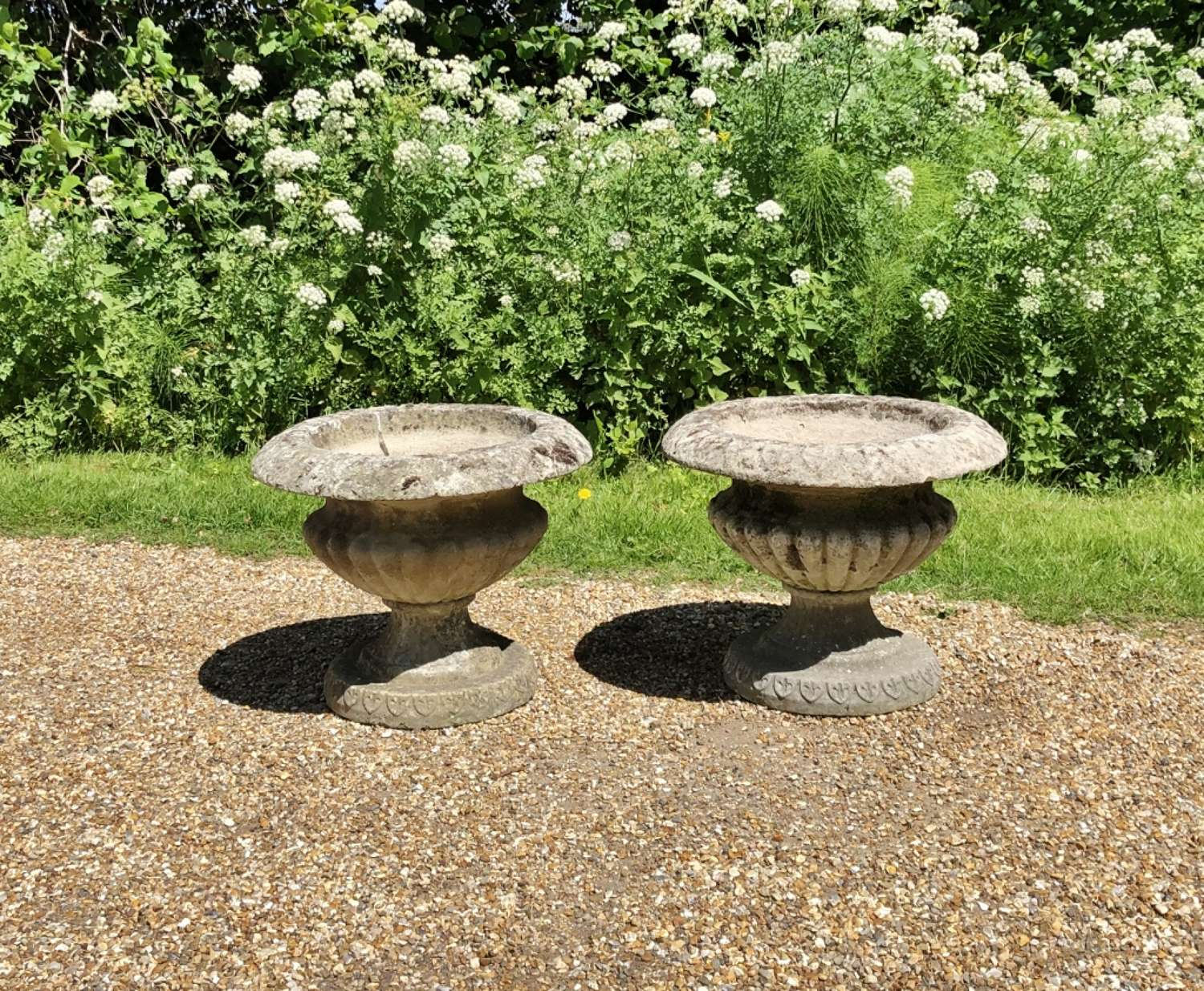 Pair of  Vintage Urns