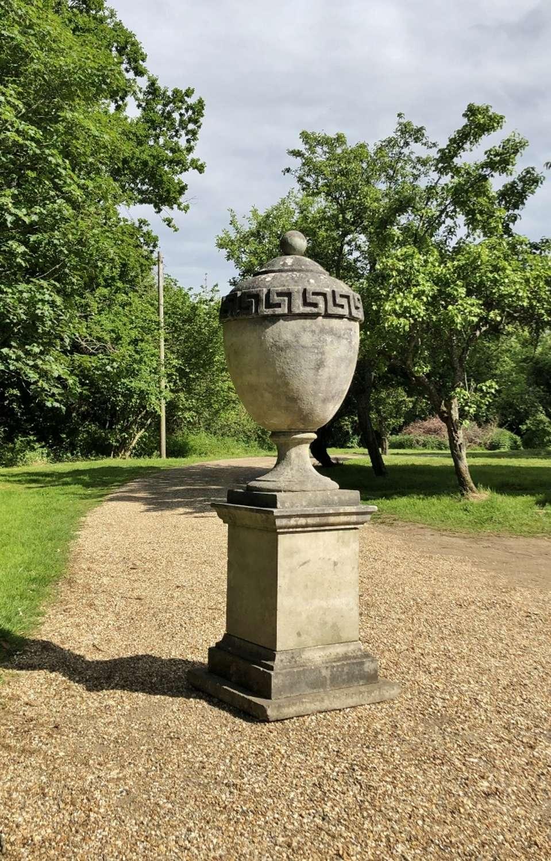 Large Lidded Urn and Pedestal