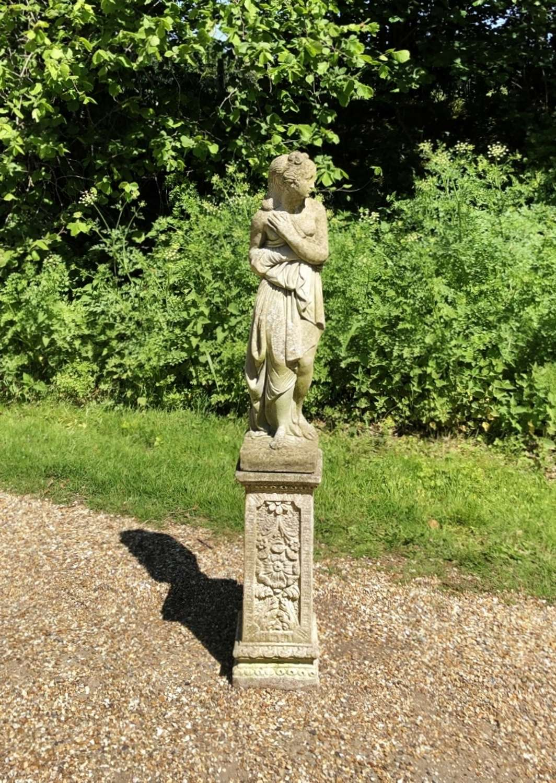 Figure on Decorative Pedestal
