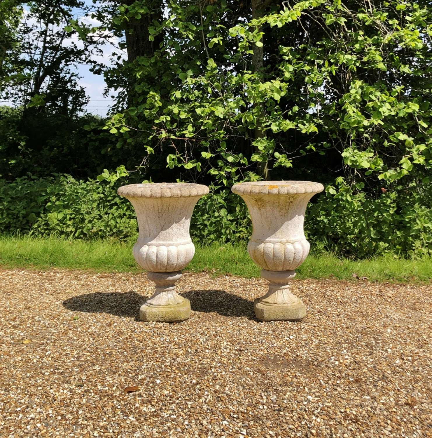 Pair of  Campania Urns