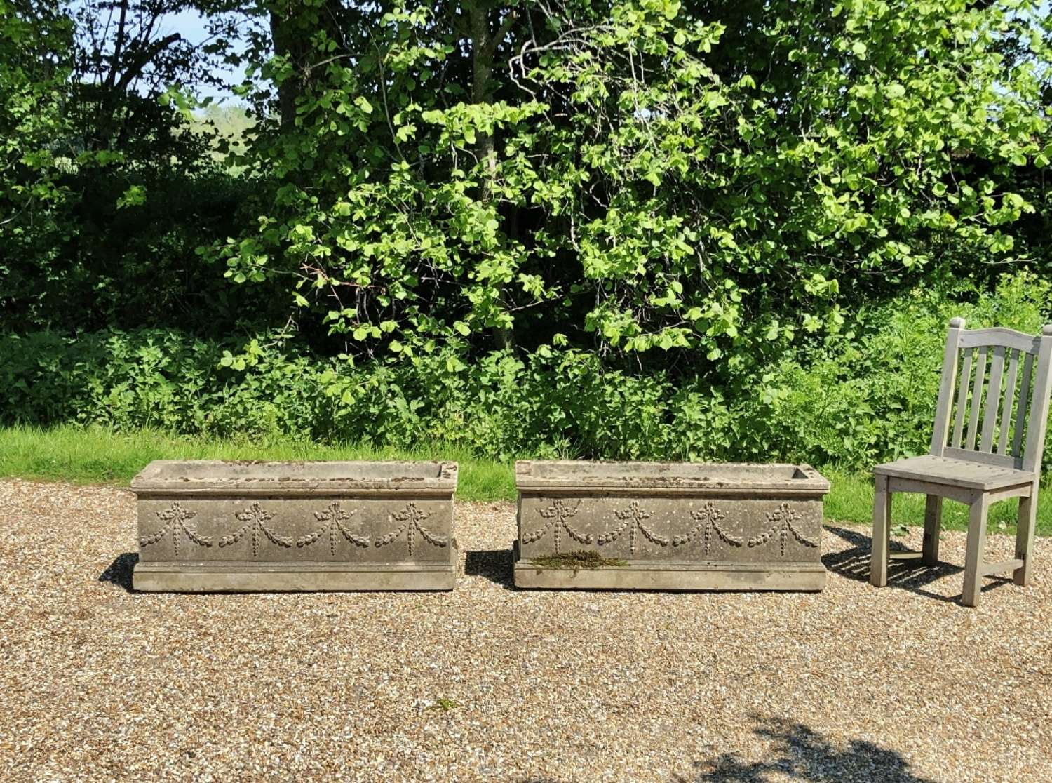 Pair of Large Weathered Troughs