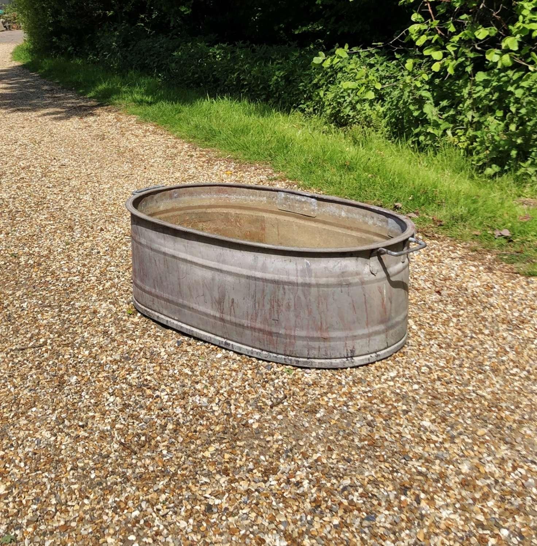 Galvanised Oval Tub
