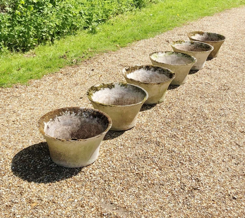 Set of 6 Mid-Century Planters