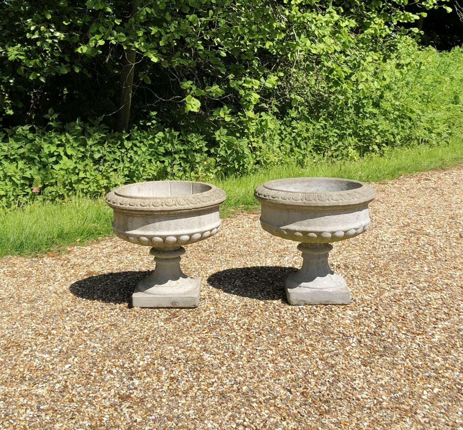 Pair of Cast Urns