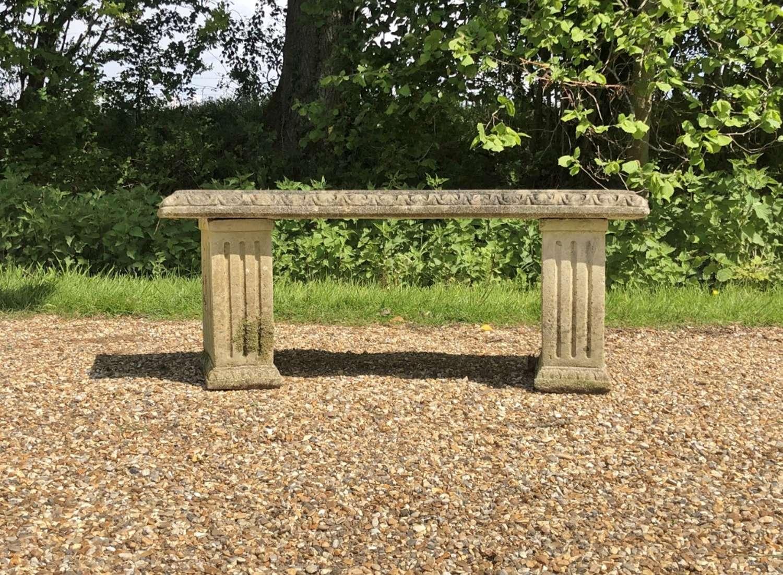 Weathered Stone Bench