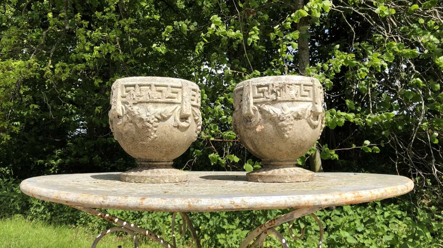 Pair of Small Roman Urns