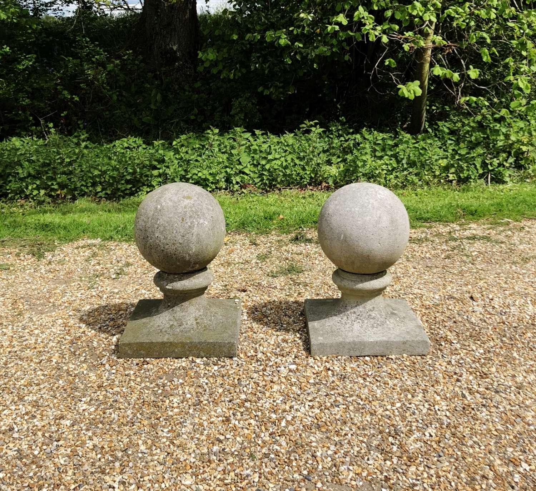 Pair of Ball Finials