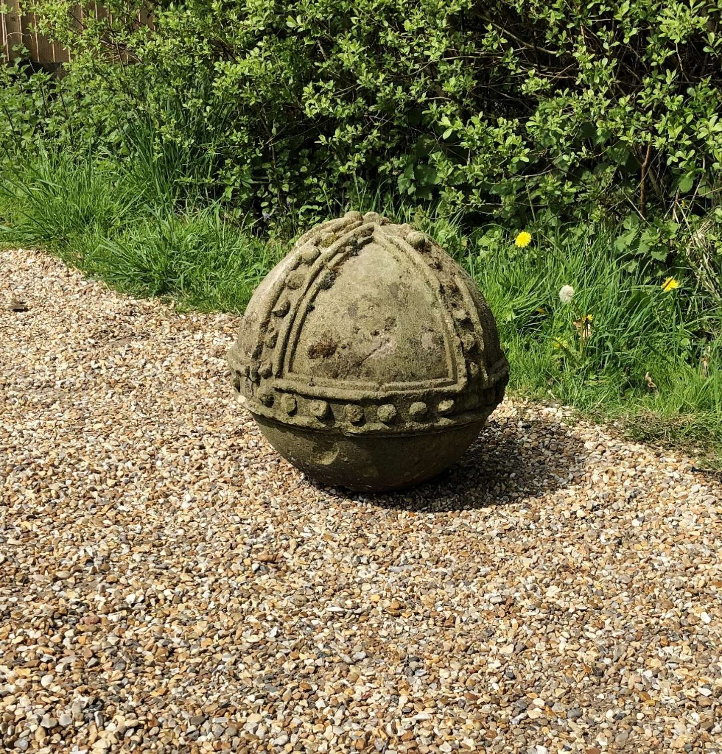 Carved Stone Orb
