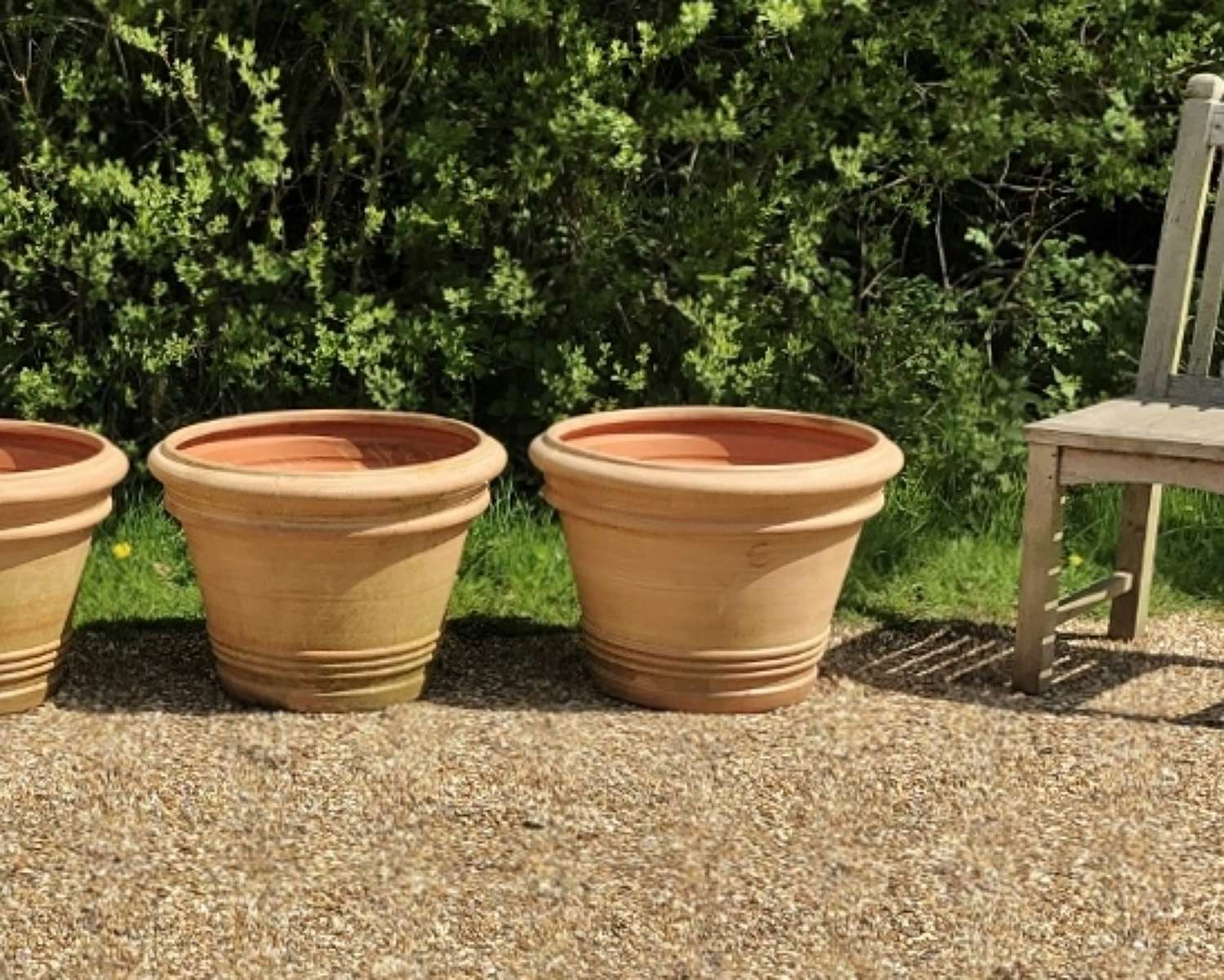 Pair of French Terracotta Planters
