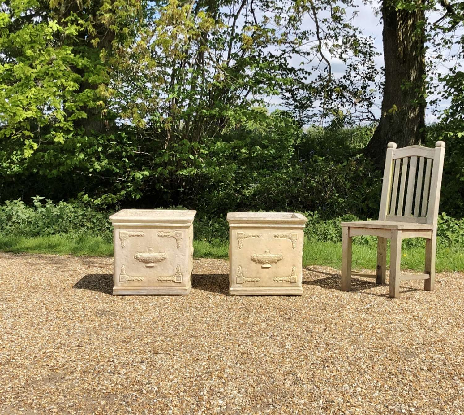 Pair of Large Square Planters