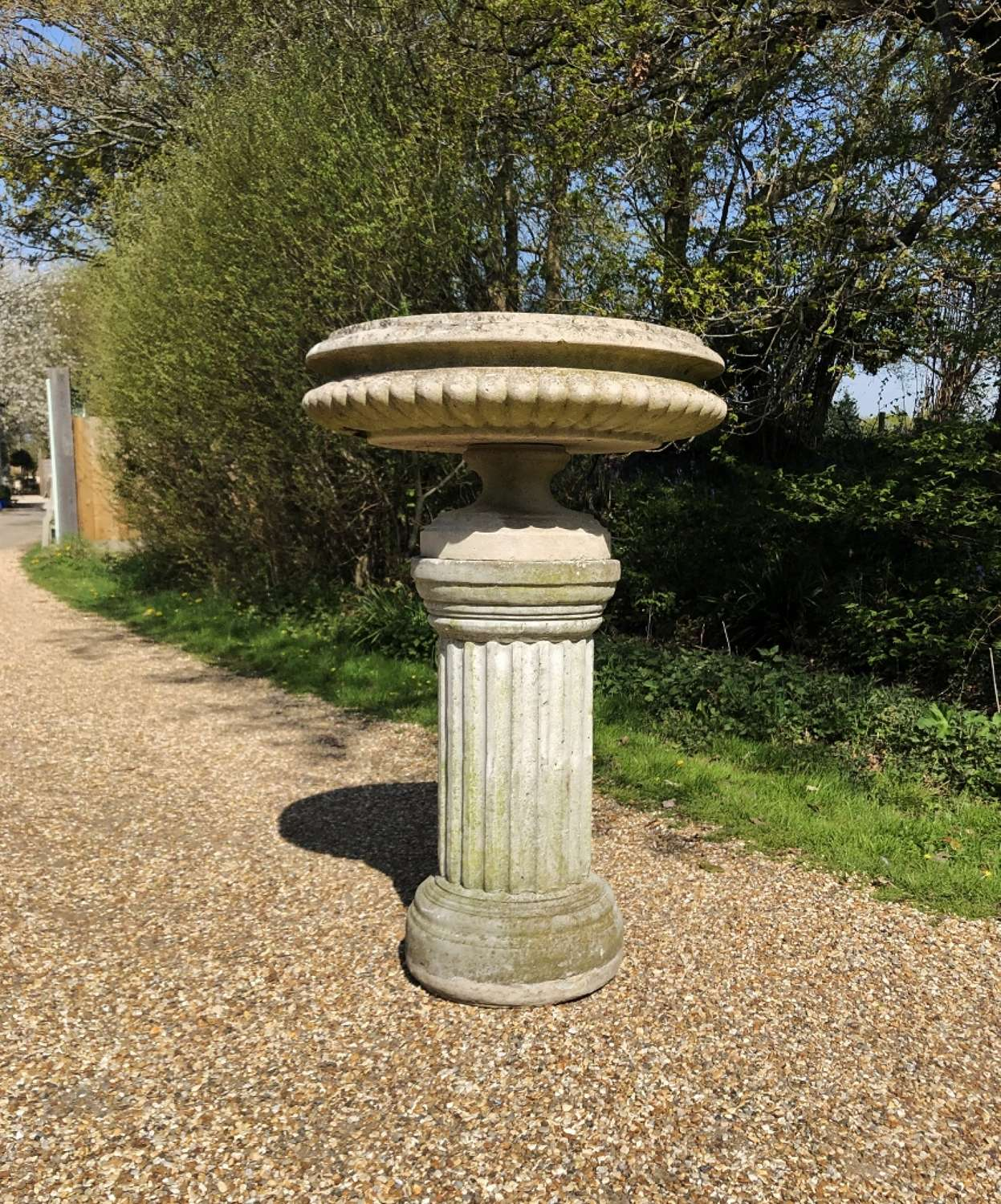 Large Shallow Urn and Pedestal