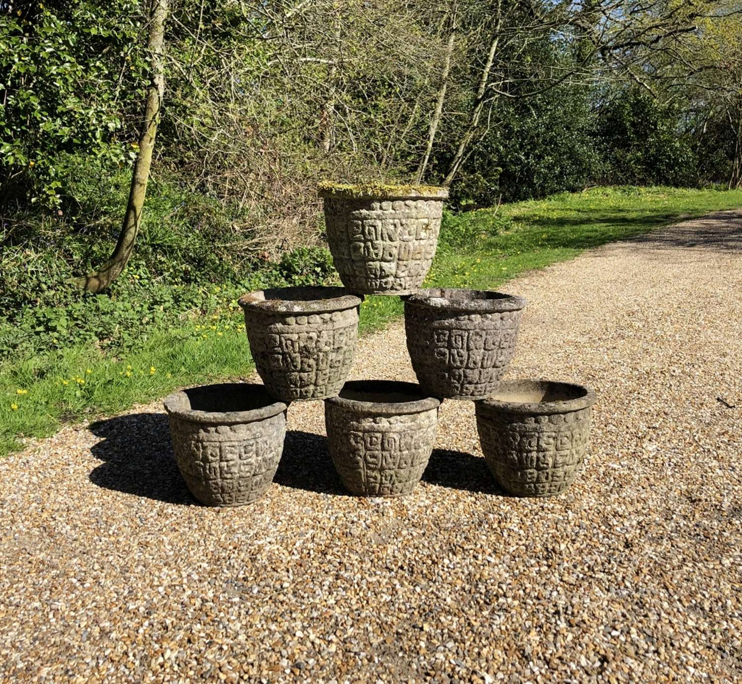 Patinated Planters