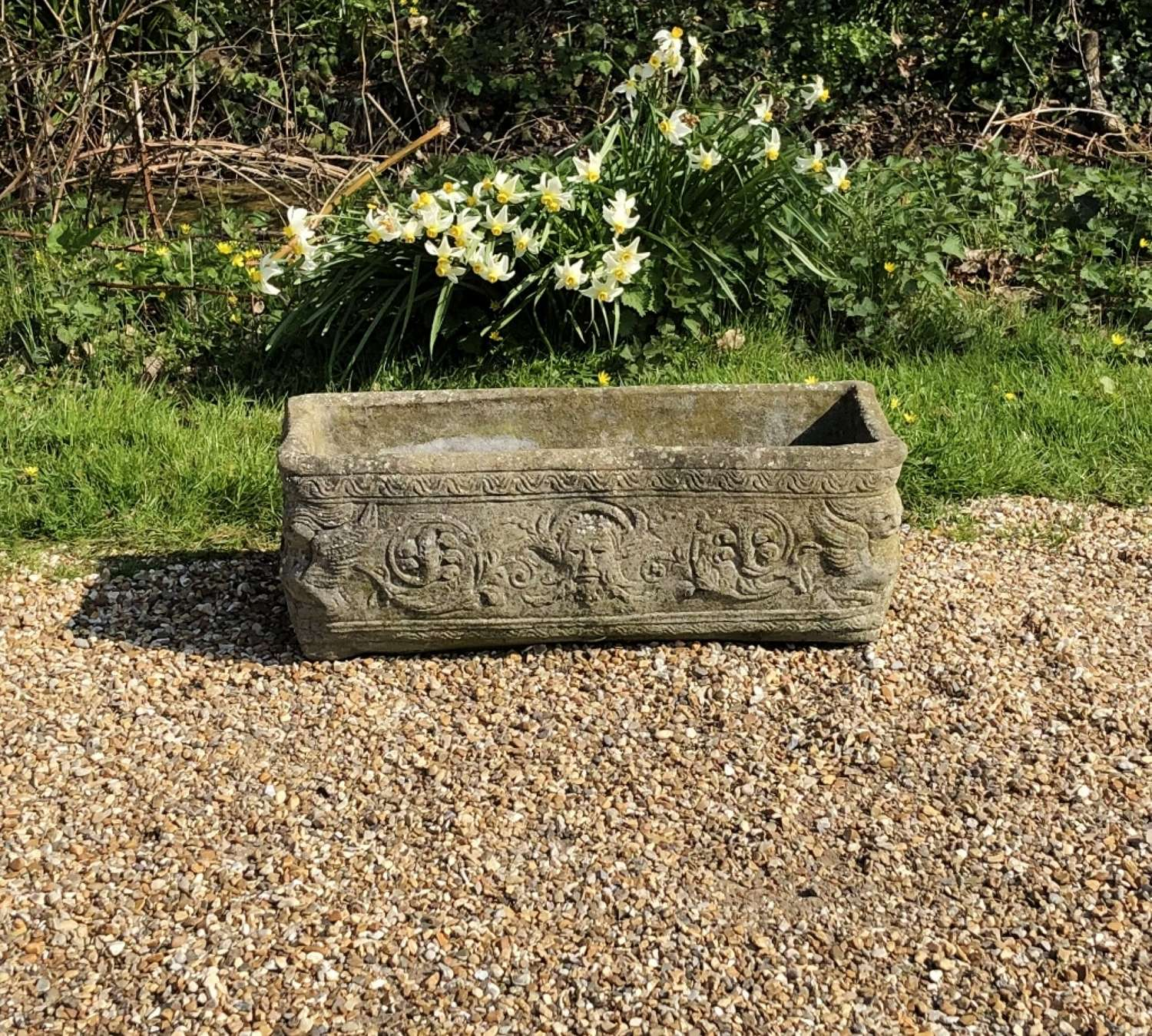 Small Patinated Trough