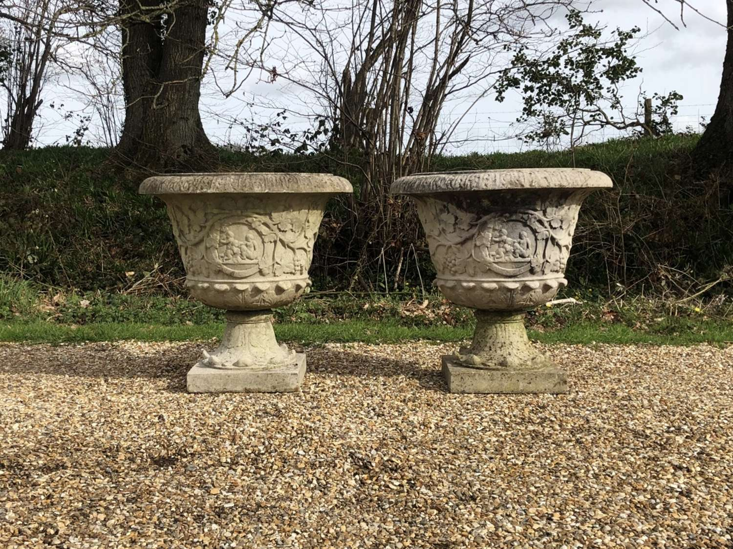 Pair of Large French Urns