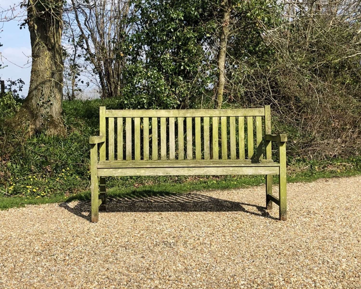 Small Weathered Garden Bench