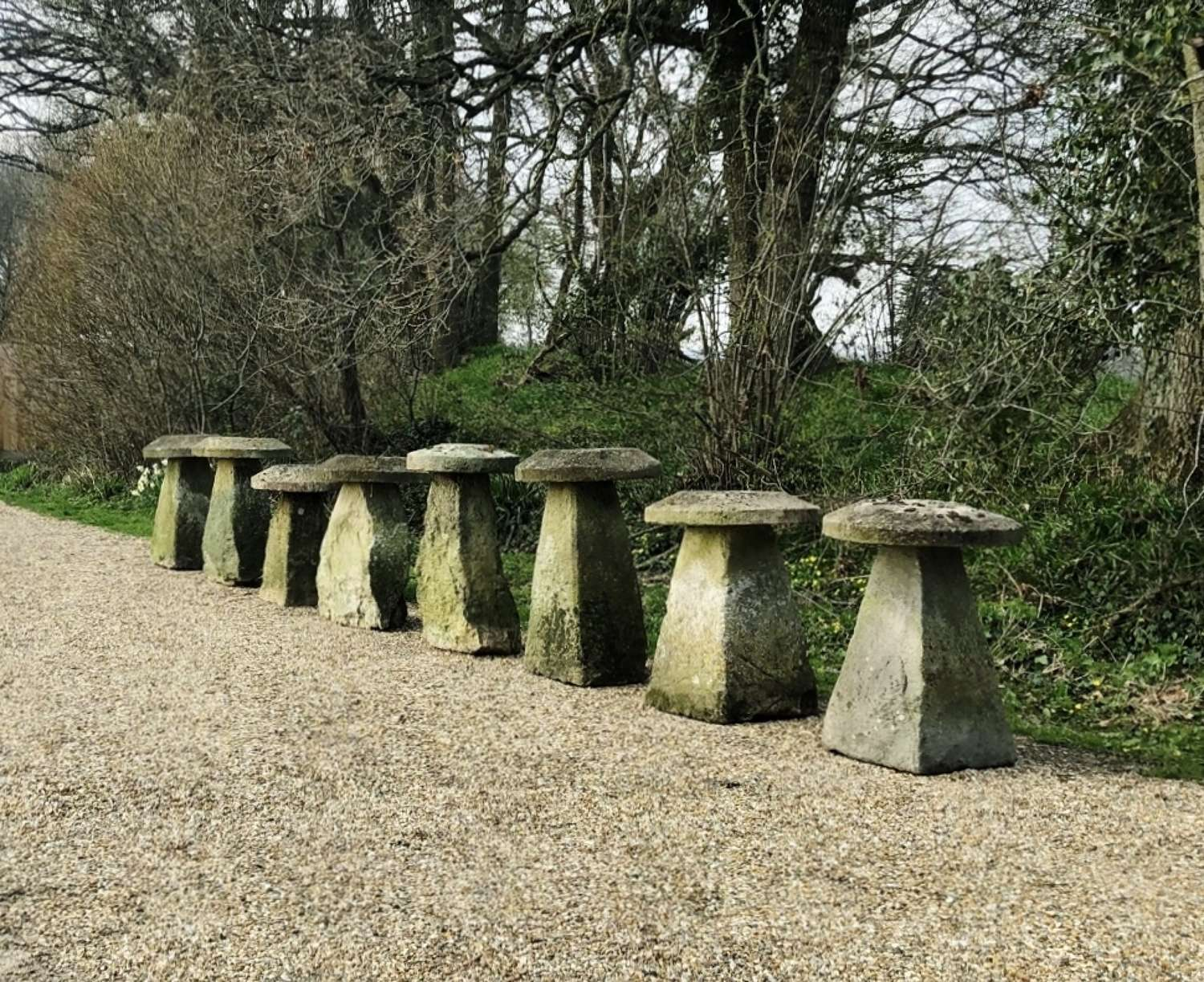 A Set of 8 Staddle Stones