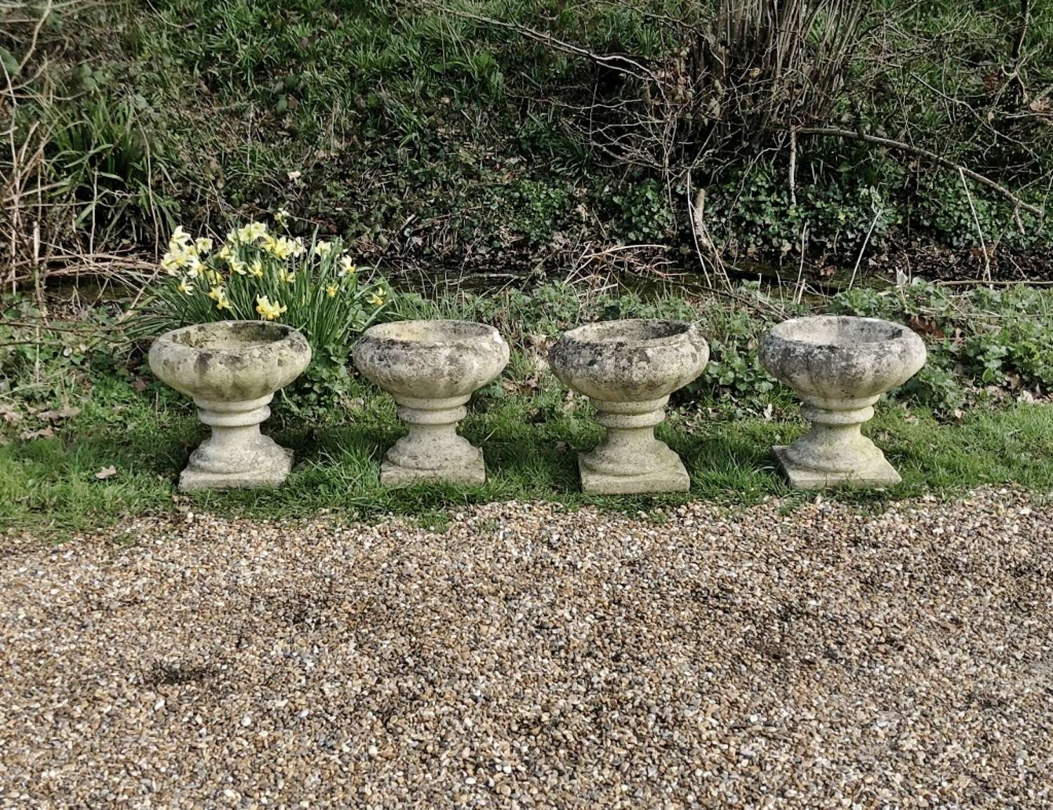 A Set of 4 Small Urns