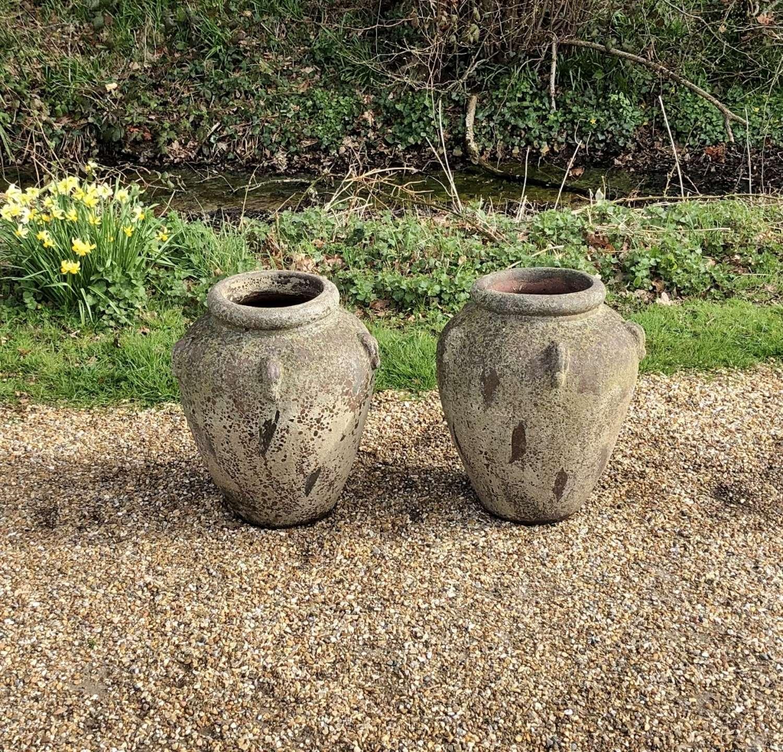 Pair of Distressed Jars