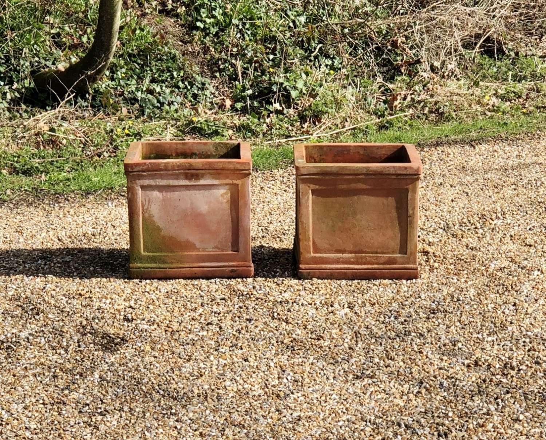 Pair of Terracotta Square Planters