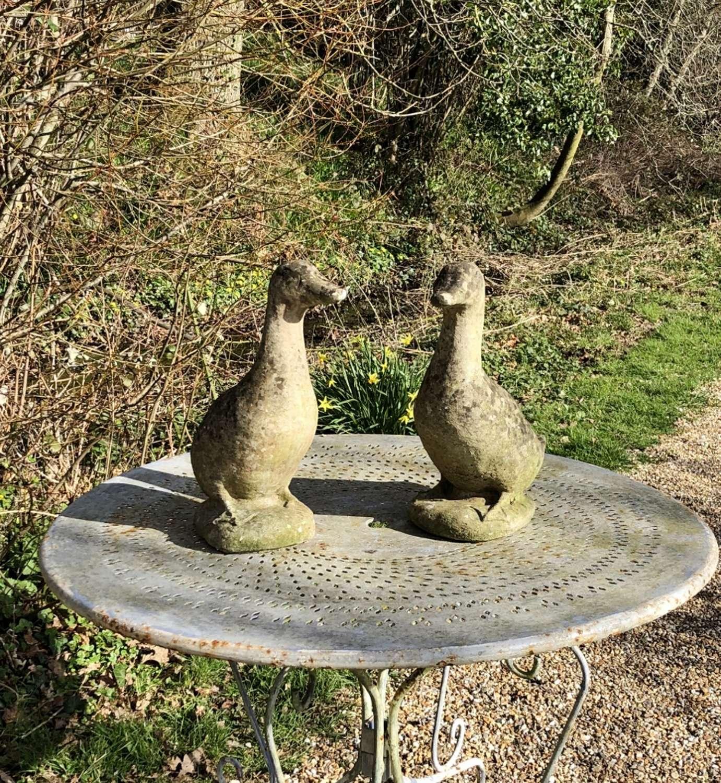 Pair of Stone Ducks