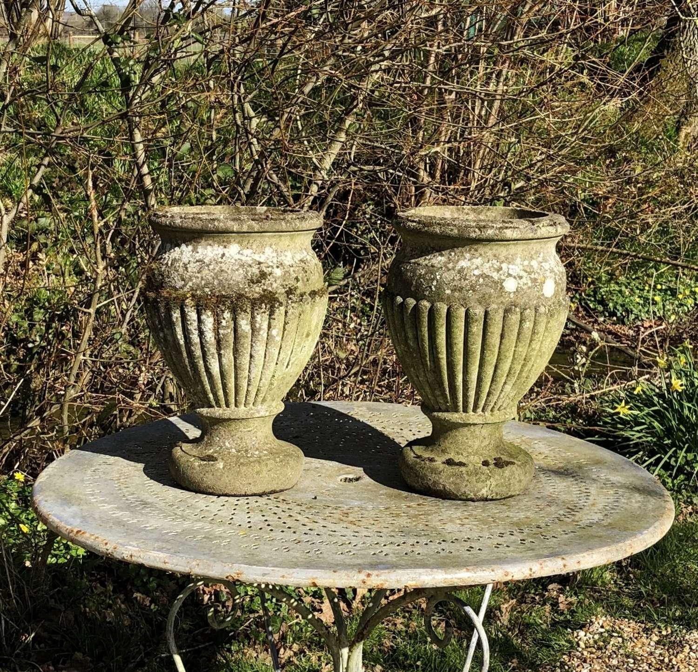 Pair of Mossy Vases