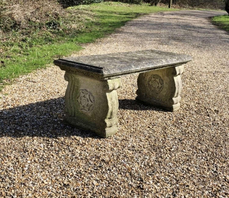Tudor Rose Bench