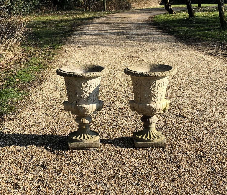 Pair of Decorative Urns
