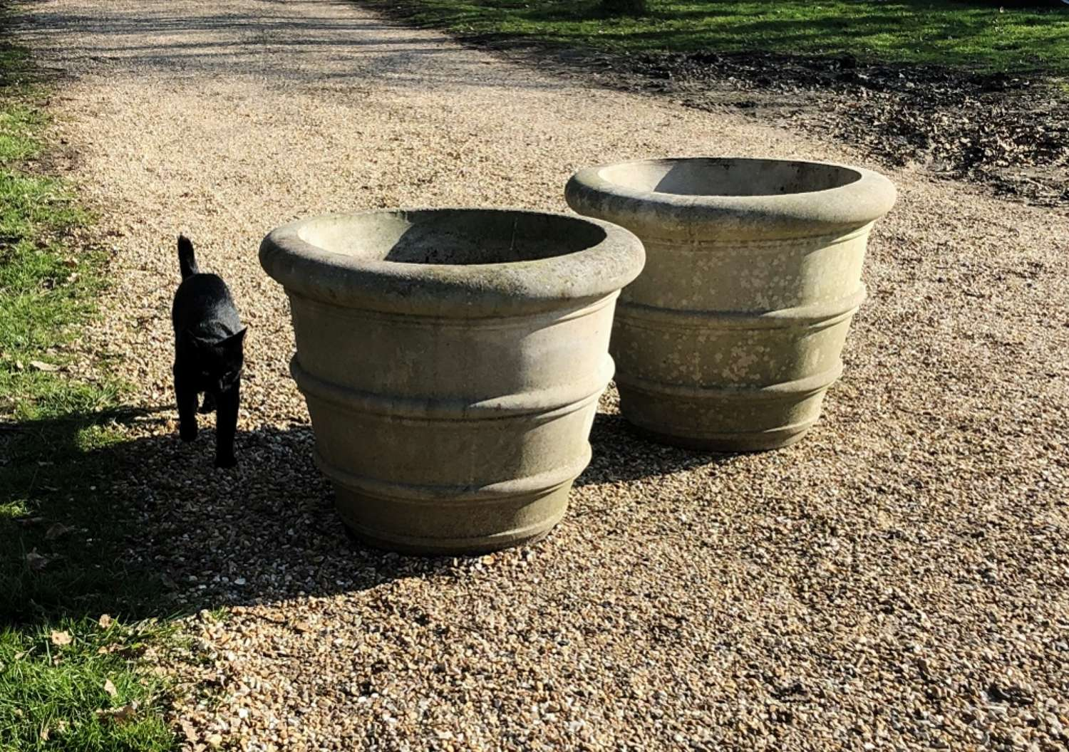 Pair of Large Simple Planters