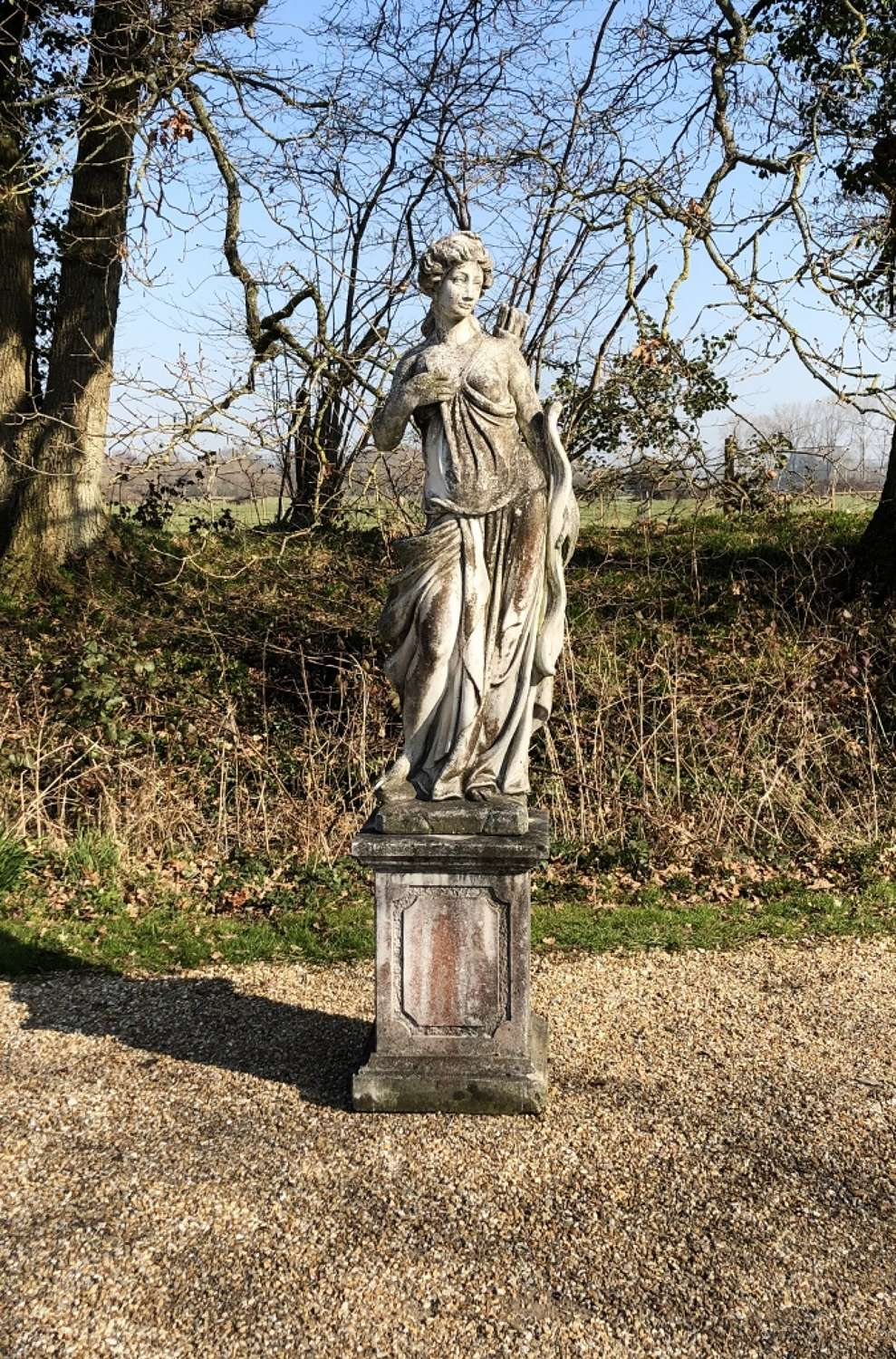 Large Patinated Figure of Diana
