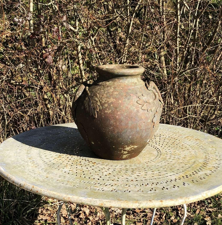 Terracotta Leaf Pot