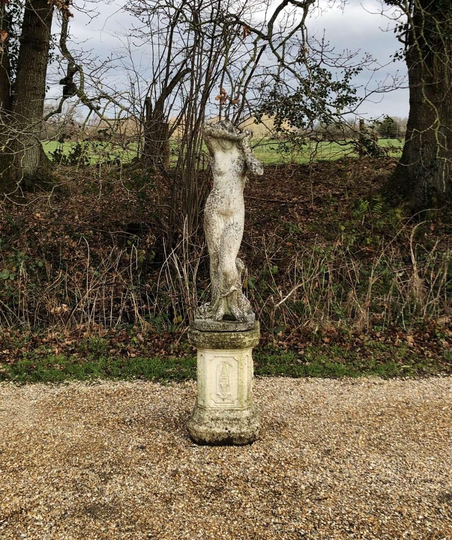 Shy Maiden with Pedestal