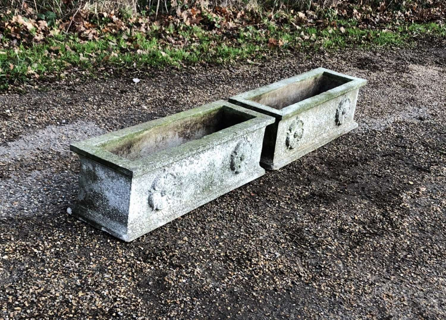Pair of Patinated Troughs
