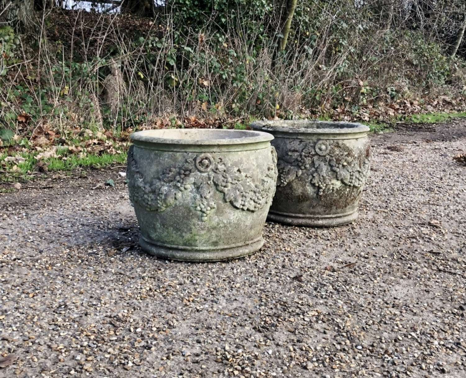 Pair of Patinated Planters