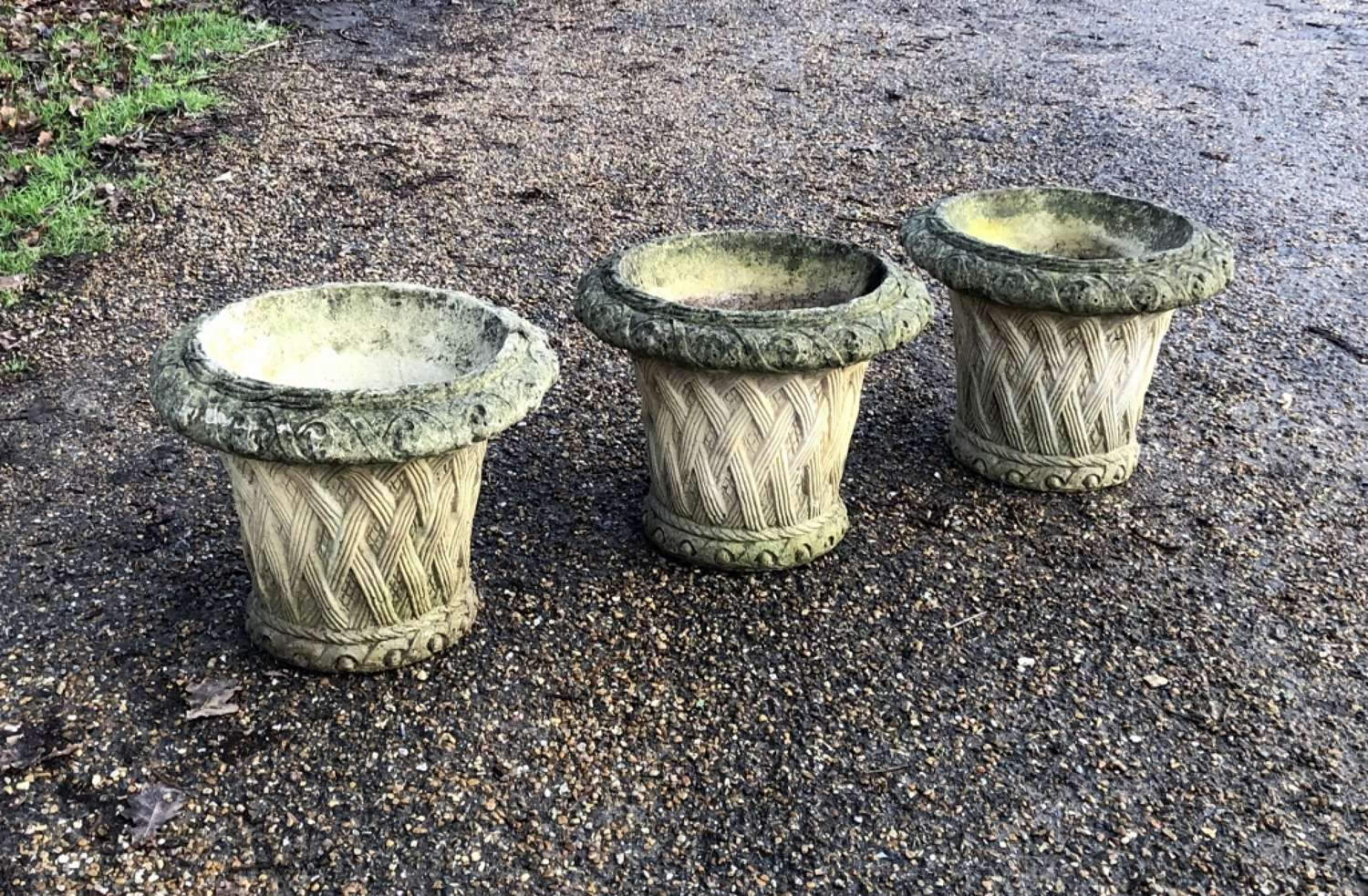 Set of 3 Small Basket Planters