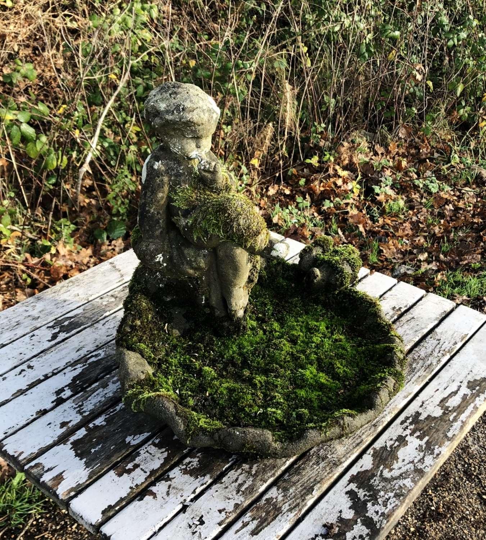 Mossy Bird Bath