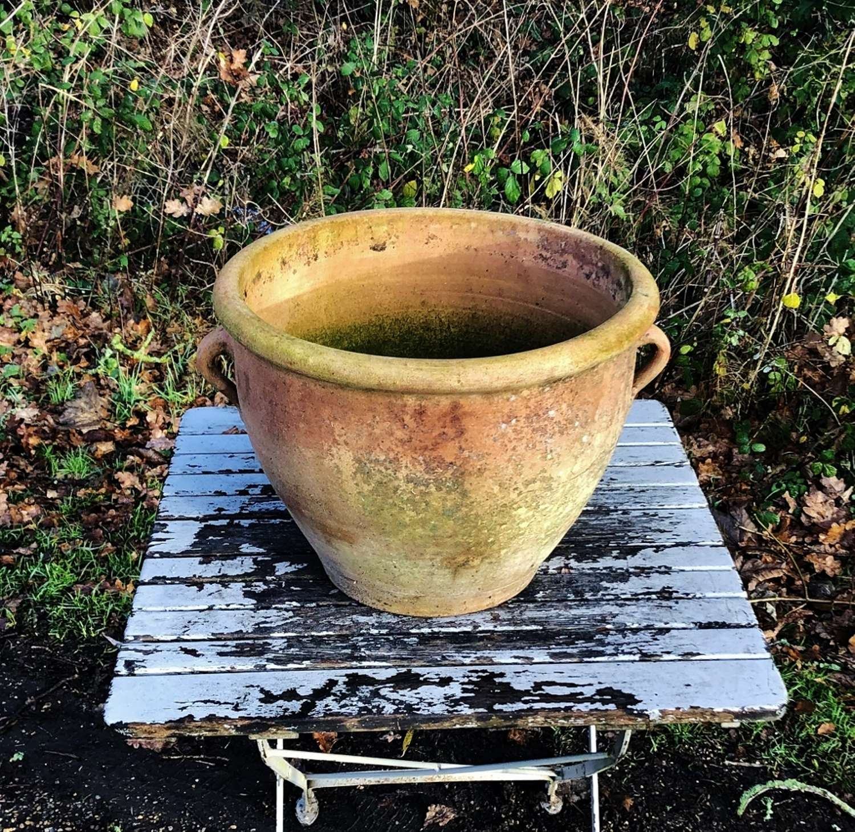 Terracotta Handled Pot