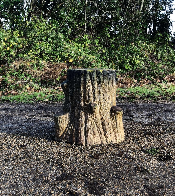 Antique Faux Bois Stand