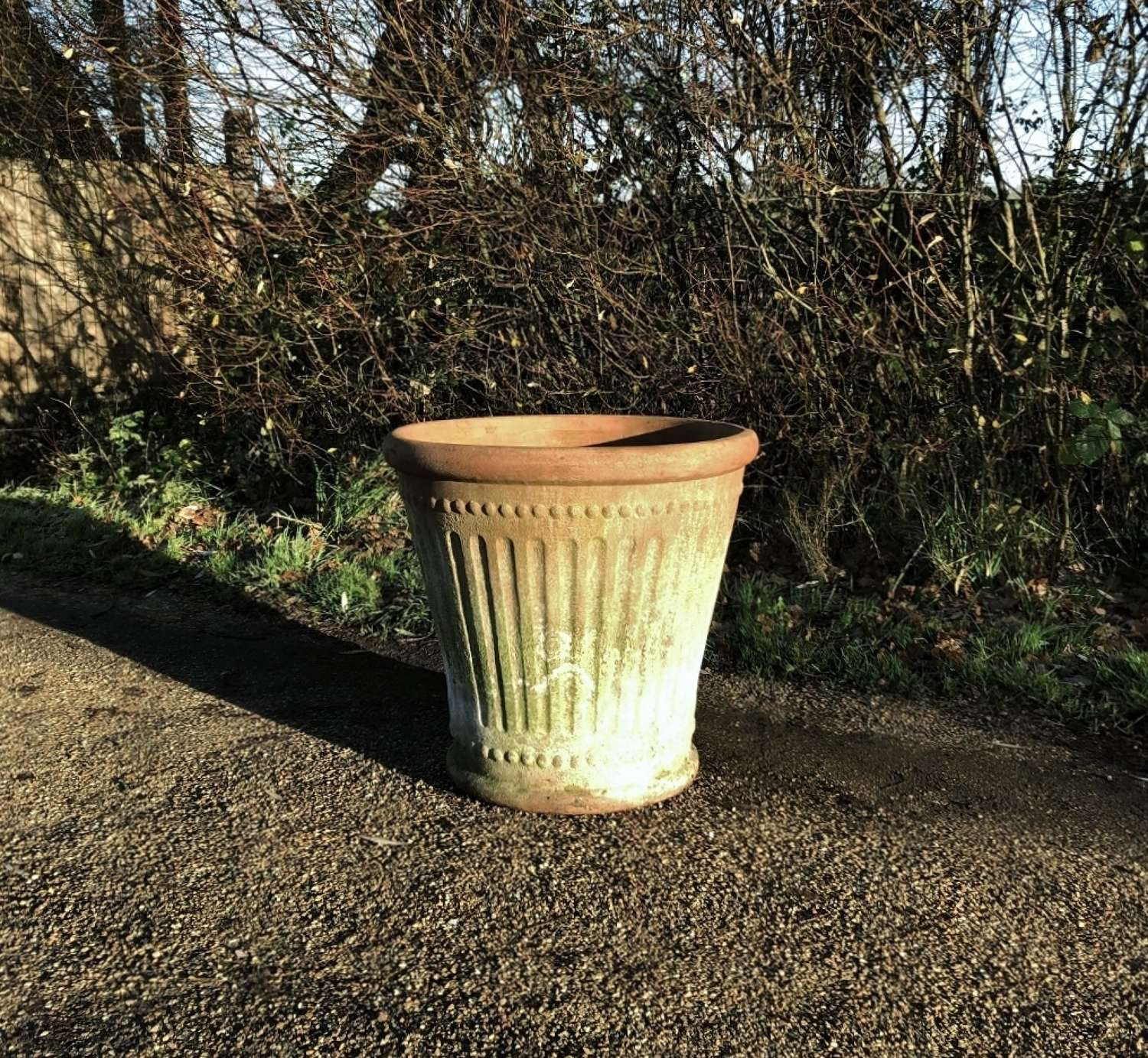 Large Fluted Planter