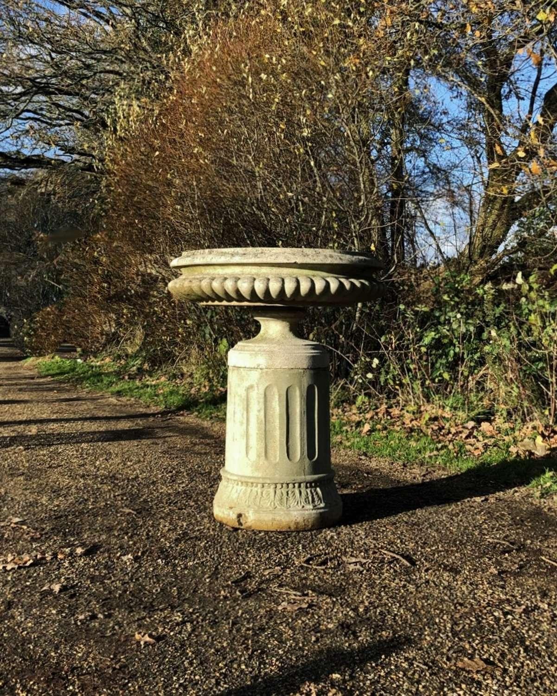 Shallow Urn with Pedestal