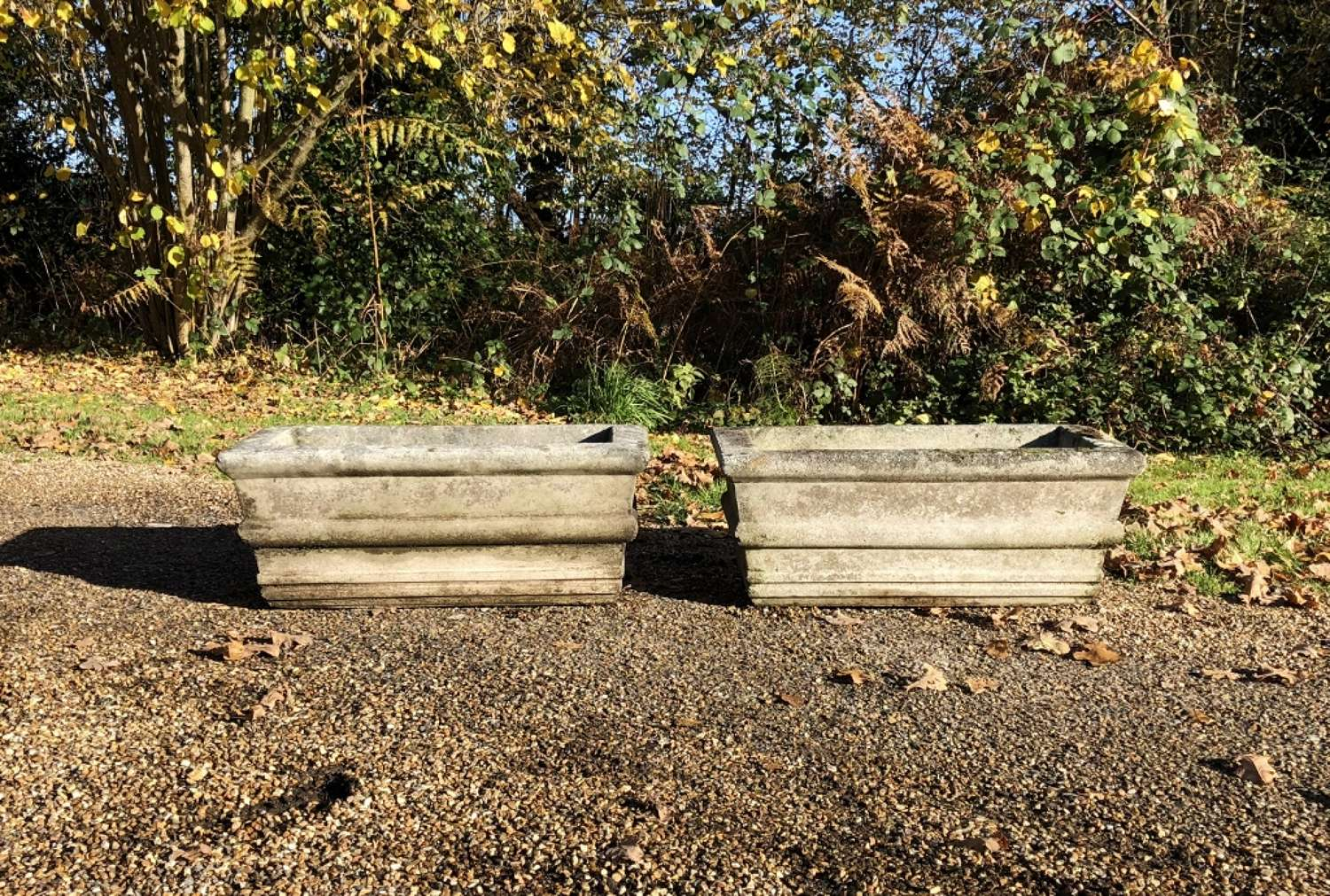 Pair of Classic Stone Troughs