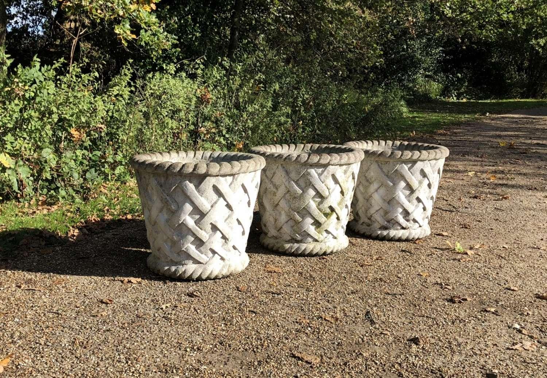 Large Lattice Weave Planters