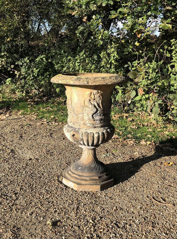 Antique Terracotta Campania Urn