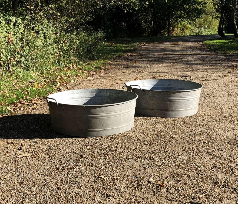 Large Galvanised Tubs