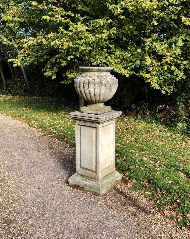 Large Vase with Pedestal
