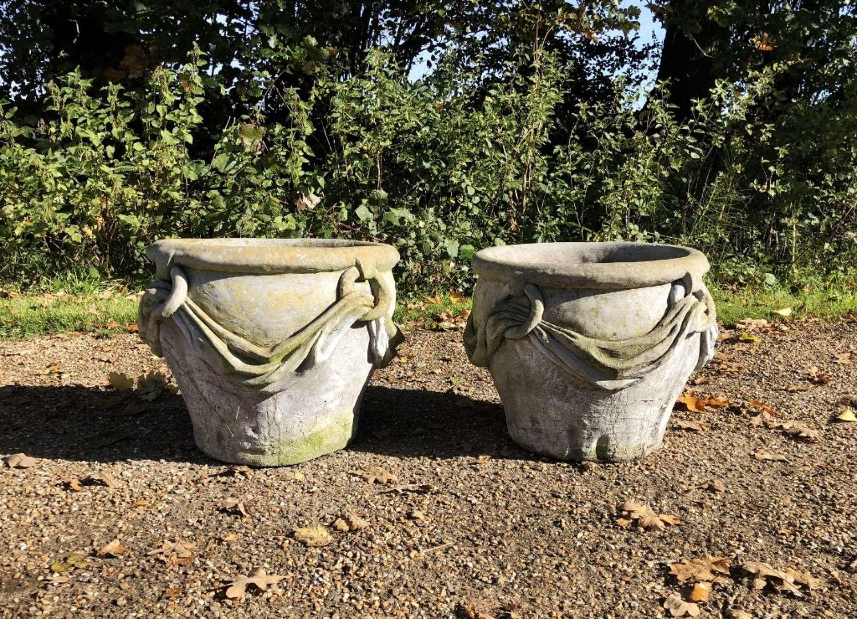 Pair of Drape Planters