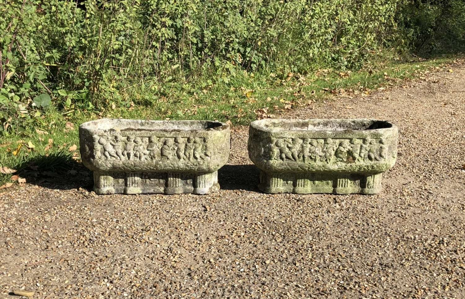 Pair of Small Weathered Troughs