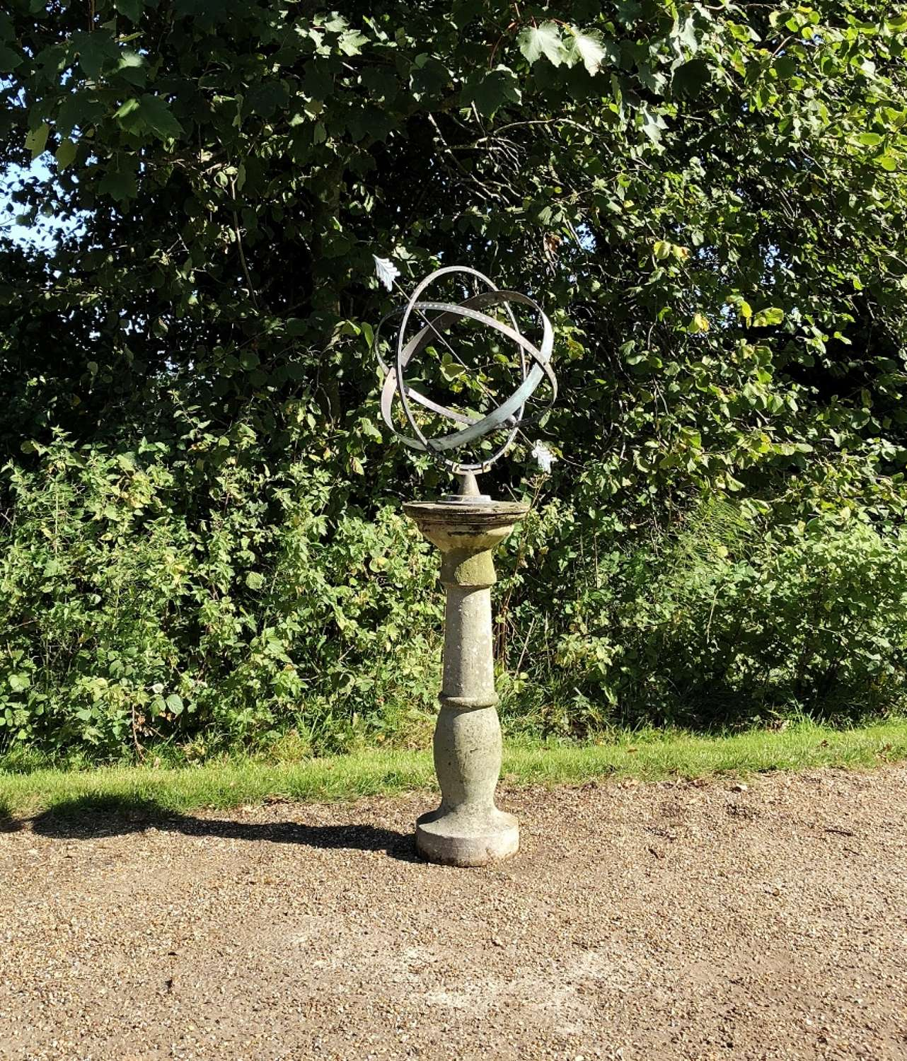 Copper and Brass Armillary on Base