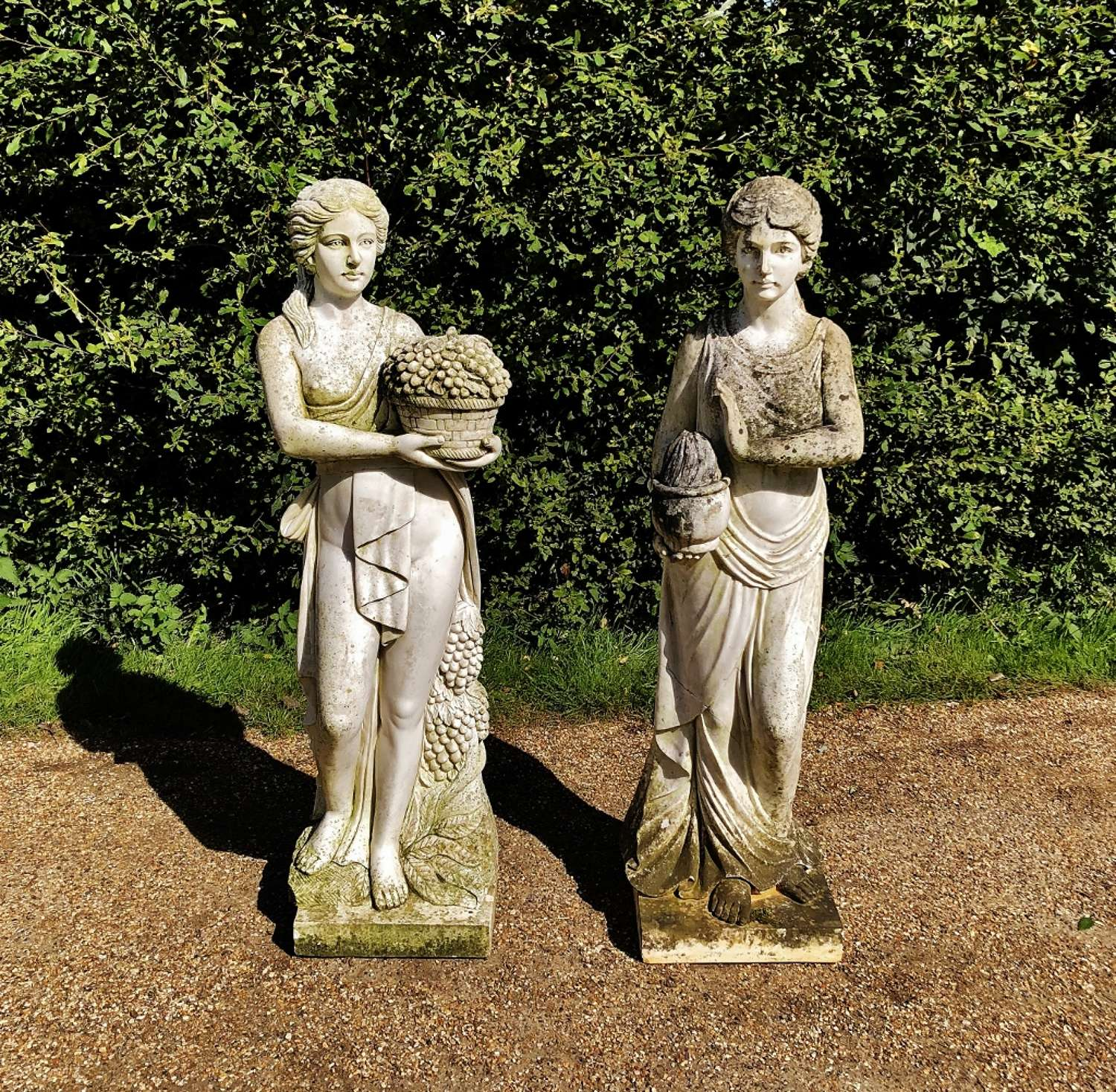 Pair of Carved Marble Figures